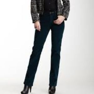 NYDJ Marilyn Straight Black Corduroy Jeans 12 EUC